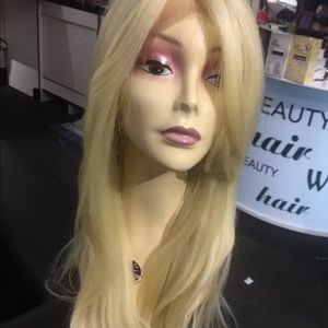 Blonde long bangs wavy lacefront extra strap New